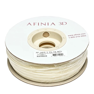 Afinia Value-Line H-Series 1.75mm ABS Plastic 3D Printer Filament, Natural