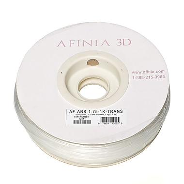Afinia Value-Line H-Series 1.75mm ABS Plastic 3D Printer Filament, Transparent