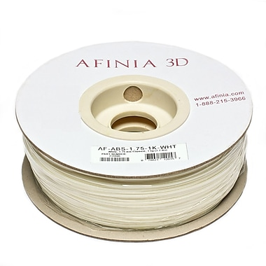 Afinia Value-Line H-Series 1.75mm ABS Plastic 3D Printer Filament, White