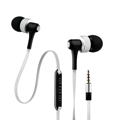 Noisehush® NX45i Super Bass Stereo Headset With In-line Mic, White