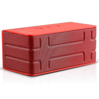 Naztech® N52 Koncert 3-in-1 Stereo Bluetooth Speaker With Power Bank, Red