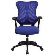 Flash Furniture Mesh Executive Office Chair, Adjustable Arms, Blue (BLZP806BL)