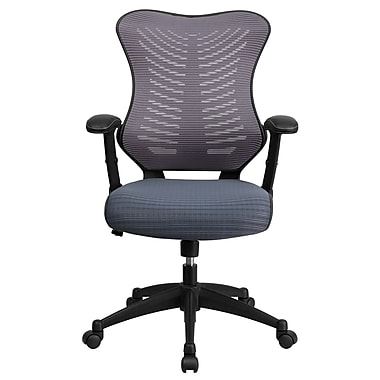 Flash Furniture BLZP806GY Mesh High-Back Task Chair with Adjustable Arms, Gray
