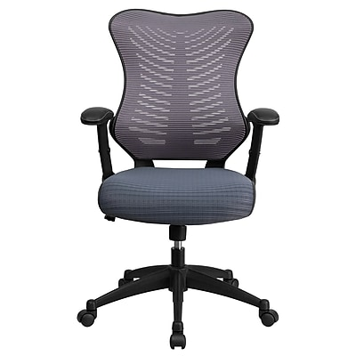 Flash Furniture Mesh Executive Office Chair, Adjustable Arms, Gray (BLZP806GY)
