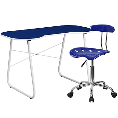 Flash Furniture Standard Computer/Writing Desk with Task Chair, Navy (NAN11LF)