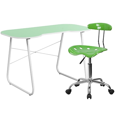 Flash Furniture Standard Computer/Writing Desk with Task Chair, Green (NAN12LF)