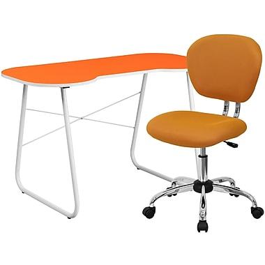 Flash Furniture Standard Computer/Writing Desk with Task Chair, Orange (NAN14)