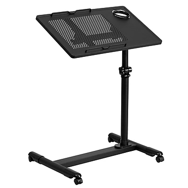 Flash Furniture NANJG06BBK Steel Mobile Computer Desk, Black