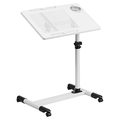 Flash Furniture NANJG06BWH Steel Mobile Computer Desk, White