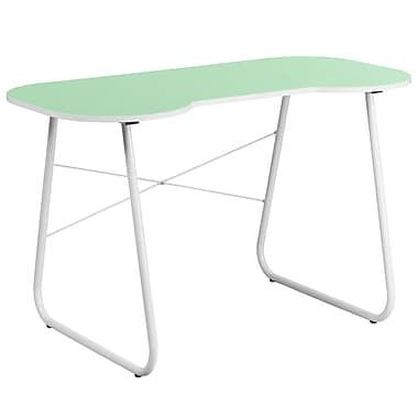 Flash Furniture Standard 47.25'' Rectangular Laminate Contemporary Writing Desk, Green/White (NANJN2360GN)