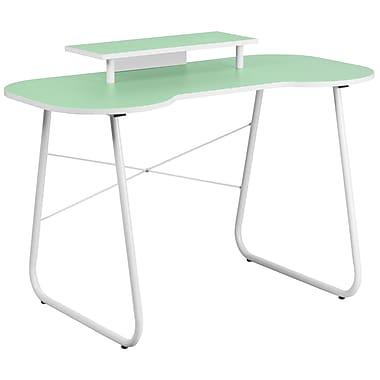 Flash Furniture Standard 47.25'' Rectangular Laminate Contemporary Computer Desk, Green/White (NANJN2360MTGN)