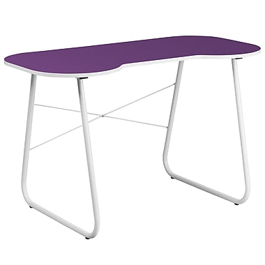 Flash Furniture Standard Computer/Writing Desk, Purple/White (NANJN2360PU)