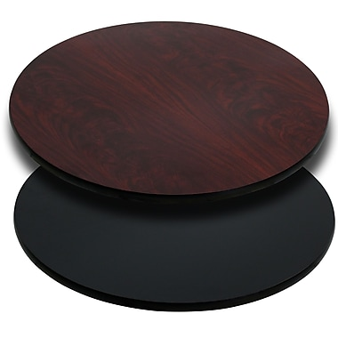 Flash Furniture 42'' Round Laminate Table Top, Black/Mahogany (XURD42MBT)