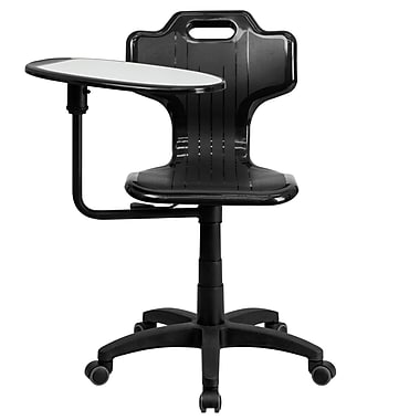 Flash Furniture YU-YCX-032-GG Plastic Mid-Back Armless Task Chair, Black