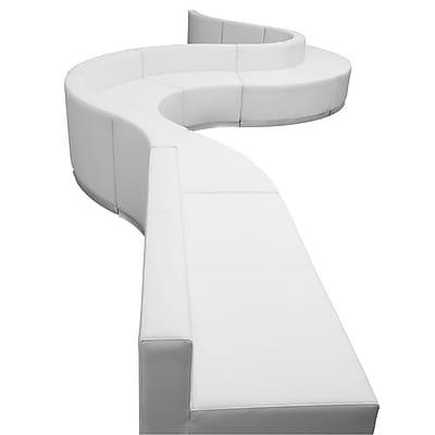 Flash Furniture Alon Series ZB803410SWH LeatherSoft Reception Set, 9 PC, White