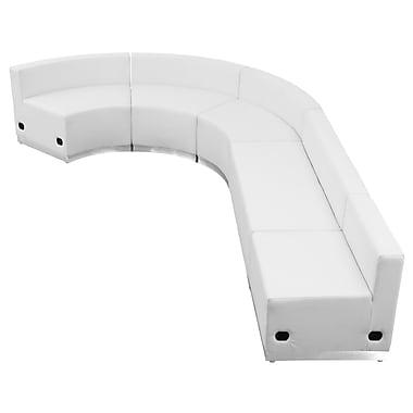 Flash Furniture Alon Series ZB803470SWH Leather Soft Reception Set, 5-Piece, White