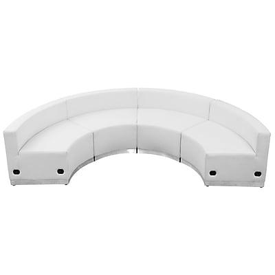 Flash Furniture Alon Series ZB803480SWH LeatherSoft Reception Set, 4 PC, White