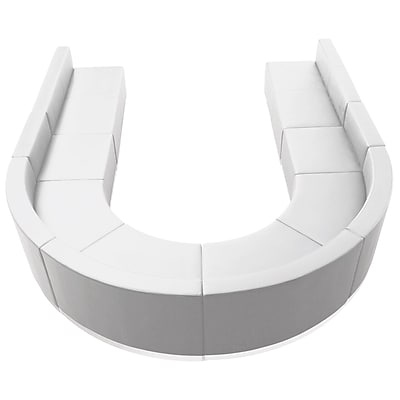 Flash Furniture Alon Series ZB803530SWH LeatherSoft Reception Set, 8 PC, White