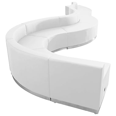 Flash Furniture – Alon Series ZB803560SWH, ensemble de réception 9 pièces, cuir, blanc