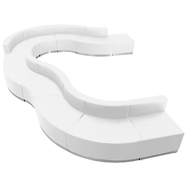 Flash Furniture – Alon Series ZB803570SWH, ensemble de réception 11 pièces, cuir, blanc