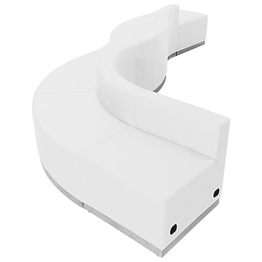 Flash Furniture – Alon Series ZB803580SWH, ensemble de réception 6 pièces, cuir, blanc