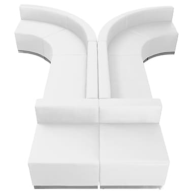 Flash Furniture Alon Series ZB803620SWH Leather Soft Reception Set, 8-Piece, White