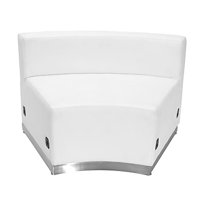 Flash Furniture Alon Concave ZB803INWH LeatherSoft Chair, White