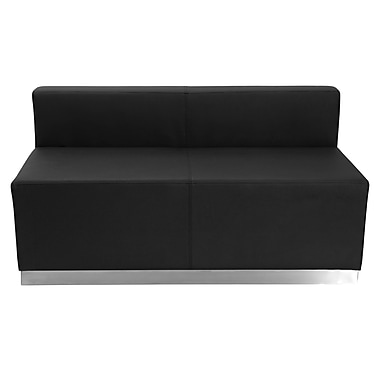 Flash Furniture Leather Soft Alon Loveseat Reception, Black (ZB803LSBK)