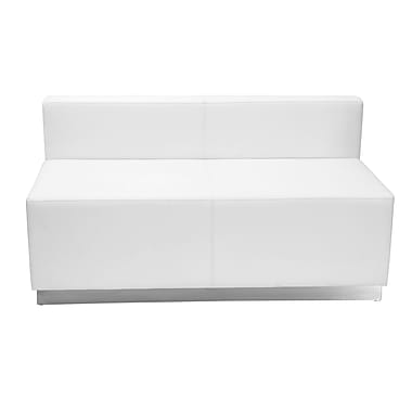 Flash Furniture Alon Loveseat ZB803LSWH Leather Soft Reception Set, White