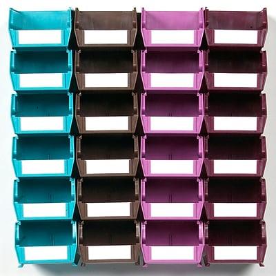LocBin Wall Storage Small Bins, Multicolor (3-210MCWS)