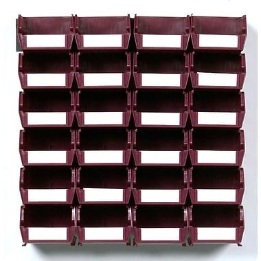LocBin Wall Storage Small Bins, Raspberry (3-210RBWS)