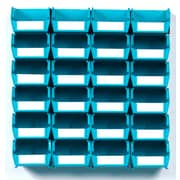 LocBin Wall Storage Bins Small, Teal (3 210TBWS)