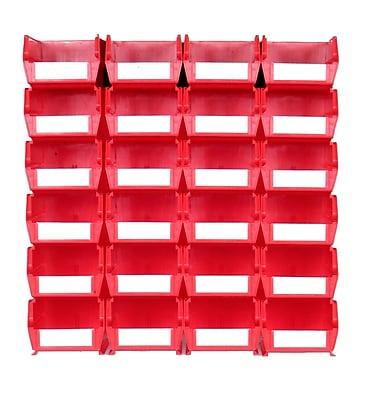 LocBin 3-220RWS Wall Storage Medium Bins, Red