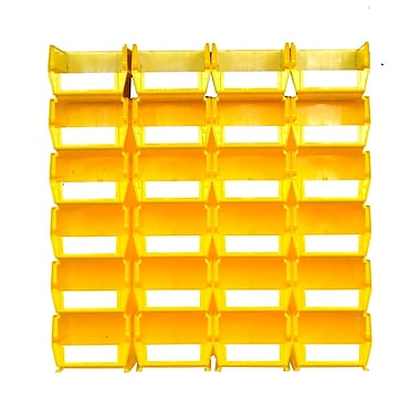 LocBin 3-220YWS Wall Storage Medium Bins, Yellow