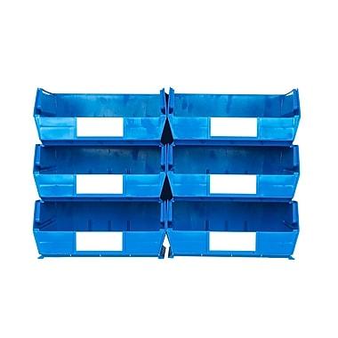 LocBin 3-235BWS Wall Storage Large Bins, Blue