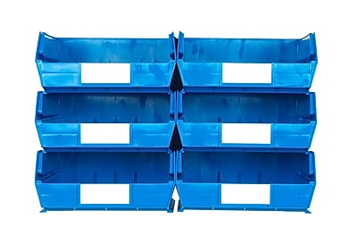 LocBin 3-235BWS Wall Storage Large Bins, Blue