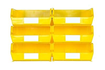 LocBin 3-235YWS Wall Storage Large Bins, Yellow