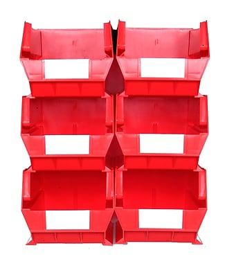 LocBin 3-240RWS Wall Storage Large Bins, Red