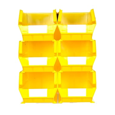 LocBin Wall Storage Large Bins, Yellow (3-240YWS)