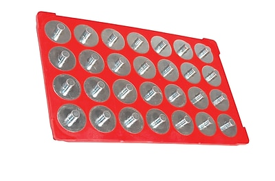 MagClip 72422 Socket Caddy and 28 Pegs, Red