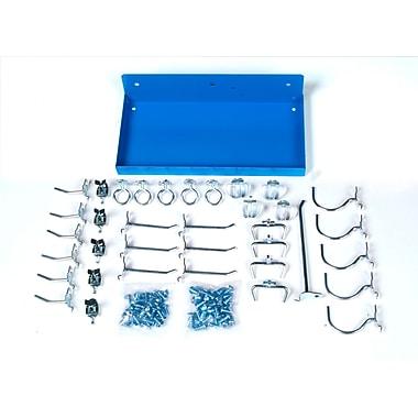 DuraHook 76126-36 Steel Pegboard Shelf 36 Hooks Blue Epoxy Coated Steel Shelf