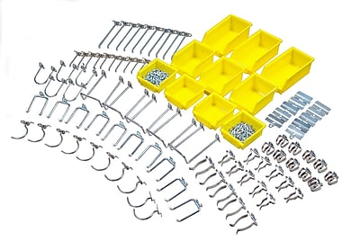 DuraHook 76995 Kit 85 Hooks 10 Bins, Yellow