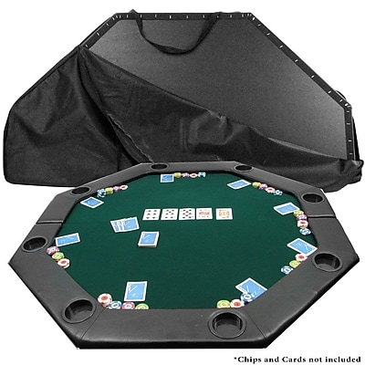Trademark Octagon Padded Poker Tabletop, Green 1182291