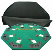 Trademark 2 Fold Poker/Blackjack Single Sided Tabletop, Green