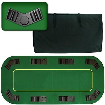 Trademark Deluxe Texas Holdem Poker Folding Tabletop, Green