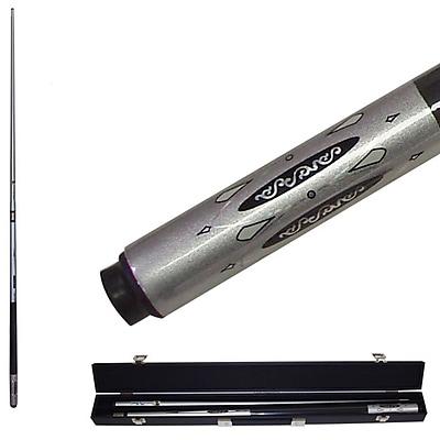 Trademark Metallic Silver Titanium Cue Billiard Stick