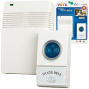 Trademark Wireless Remote Control Doorbell With 10 Different Chimes, White