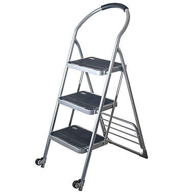Stalwart™ Step Ladder Folding Cart Dolly, 250 lbs., Silver