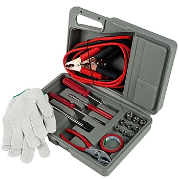 30-Pc. Roadside Emergency Tool and Auto Kit