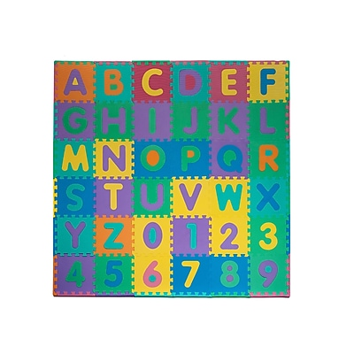 Trademark 96 Piece Foam Floor Alphabet & Number Puzzle Mat